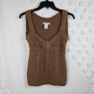 Nanette Lepore Brown Sweater Tank xs
